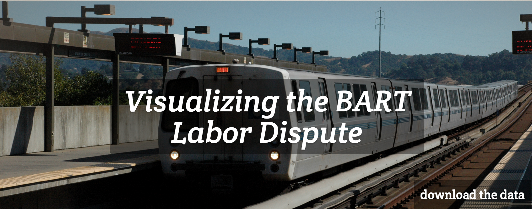 visualizing the BART labor dispute